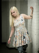 Gloomth Doilies Dolls Creepy Skater Dress Sizes Xs To 5xl Eerie Ghost Halloween
