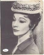 Vivien Leigh D 1967 Signed 8x10 Photo Actress/gone With The Wind Jsa Z94546