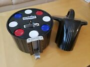 Deco-bakelite Chip Caddy-with All Chips, Cards, And Counter-excellent Condition