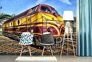 3d Colored Locomotive O456 Transport Wallpaper Mural Self-adhesive Removable Amy