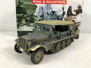 King And Country Ws229 Sdkfz 10 Ausf B Armored Personnel Carrier/truck Ww1/ww2 Min