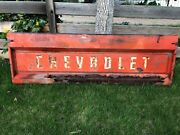 Vintage Original Orange 1963 Chevrolet Truck Tailgate Chevy C10 Collector Alert