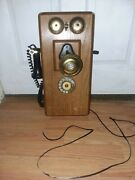 Vintage Coca Cola Wooden Wall Phone. Has A Jack To Plug Into The Wall.