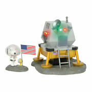 Dept 56 Peanuts Village New 2019 The Beagle Has Landed 6003312 Snoopy Woodstock