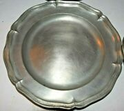 Feinenglisch 4 Plates German Angel W The Scale Pewter Mark From The 18th C Rare