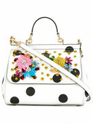 Exceptional Dolceandgabana Sicily Embellished Leather Tote Bag-nwt2945 100 Authe