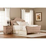 Jefferson King Headboard And Footboard Antique Beige -component
