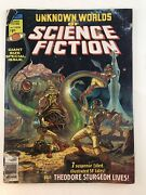 Unknown World Of Science Fiction Number 1 Collectible Comic Magazine Vintage