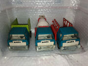 Lot Of 3 Vtg Marx Toy Car Trucks,garbage Truck,cement Mixer Truck ,utility Truck