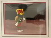1984 Marvin The Martian Mtv Title Id Commercial Production Cel - Rare