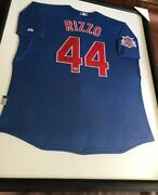 Anthony Rizzo Chicago Cubs Signed Framed Replica Jersey - Mlb Debut - Fanatics