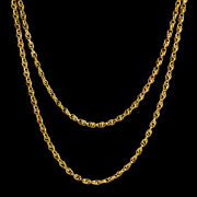 Antique Victorian French Guard Link Chain 18ct Gold On Silver Circa 1900