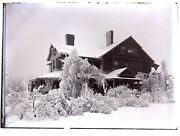 Glass Negative James H. Frothingham Summer Home House Dublin Nh Ice Storm 1900