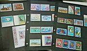 French Polynesia 1966-1982 Xf Unmounted Mint Mnh Stamp Collection, 3 Album Pages