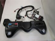 Tracker Nitro Z21 Dash Panel W / Touchpad Remote And Gauges Black Vinyl Boat