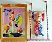 Vintage Tin Toy Jimmy Clown Arnold Made In Germany 1950s Boxed
