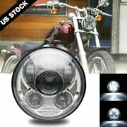Brightest 5-3/4 5.75 Inch Led Projector Headlight Drl For Motorcycle Motor