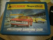 1960's Matchbox Cars With Collector's Carrying Case