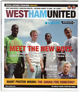 West Ham United V Charlton Athletic Rare Official Match Day Programme 19.08.06