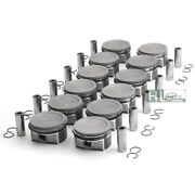 12pcs Pistons Rings Set Andphi20mm 82mm For S600 Cl600 W221 C216 M275 5.5t 2750301517