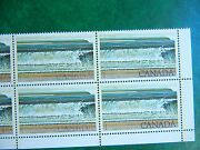726 Fundy, Block Of Ten, 1 Canada Stamps, Dry Print Error, Mint Nh