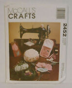 Mccall's Crafts Sewing Pattern 2452 Sewing Accessories Tote Chatelaine Uncut