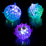 Lumistick Stress Relief Toy 3 Inch Light-up Squeezy Bead Aquatic Animals Lot