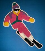 Rare Vintage 1980's Down Hill Skier Large Ski Bunny Jacket Chenille Patch 118l