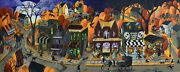 Art Print Halloween Town Village Costume Pet Witch Dept 56 Look Ghost Scary Dc