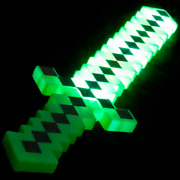 Lumistick Multi-color Ultra Bright 24and039and039light Up Pixel Sword Green And Black Lot
