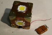 Led Flash Bang Cube10x10x10cm +rings 6x100w Diy Prototype With Remote Controll