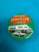 1992 Hess Truck Racer Pin Back Button In New Condition