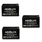 3 Pack Ab12120 12v 12ah F2 Costco 360 Eco Electric Scooter Battery