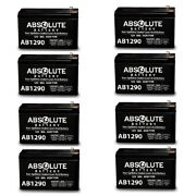 New 8 Pack Ab1290 12v 9ah Sla Battery Replacement For Potter Electric Bt-80