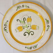 Vintage Stangl Terra Rose 14 Round Platter Charger Tulip Made In Trenton Usa