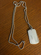 Andco. Sterling Silver Yorkie Collection Comb Dog Tag Pendant Necklace