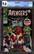Avengers 54 Cgc 9.6 Ow/w Marvel 1968 1st New Masters Of Evil