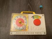 Fisher Price Toys Hickory Dickory Dock Vintage Play Musical Clock Radio Baby Toy