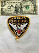 Rare West Liberty Iowa Police Patch Police Reserve Un-sewn In Great Shape