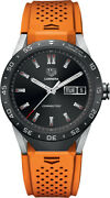 Tag Heuer Sar8a80.ft6061 Connected Smartwatch Android Ios Orange Rubber Watch