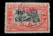 Belgian Congo Stamp 38b Used Vf Inverted Overprint Expert Signed