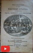 Western United States History 1841 Illustrated Book Native Americans Wm. Mickey