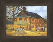 American Made By Dave Barnhouse 12x15 Framed Art Picture Harley Davidson Bikes