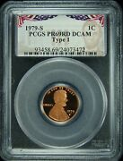 1979-s Pcgs Pr69rd Dcam Type 1 Lincoln Cent Presidential Label