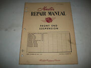 Master Repair Manual Front End Suspension 1949 Ford Meteor Monarch Lincoln
