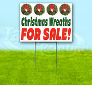 Christmas Wreaths For Sale Yard Sign Corrugated Plastic Bandit Lawn Decoration