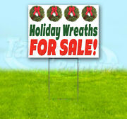 Holiday Wreaths For Sale Yard Sign Corrugated Plastic Bandit Usa Christmas