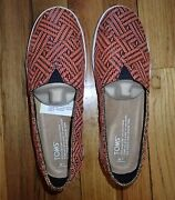 Toms Avalon Red Slip On Shoes Size 7 - New