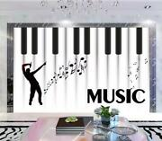 3d Music Piano O06 Wallpaper Wall Mural Removable Self-adhesive Sticker Kids Amy