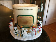 Partylite Frolicking Frostys Snowman Candle Holder W/ Candle-lite Vanilla 3 Wick